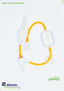 ONCOLOGIE LIGNE RECONSTITUTION PVC SANS DEHP  1 ACCES  AVEC VALVE BIDIRECTIONNELLE  FILTRE 0.2 µm LUER LOCK MOBILE