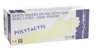GANT POLYETHYLENE 920MM POLYTACTYL POLYSEM MEDICAL USAGE UNIQUE STERILE BOITE DE 100