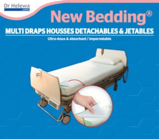 NEWBEDDING® MULTI DETACHABLE & DISPOSABLE FITTED SHEET 200X 90X 25 CM (X3)