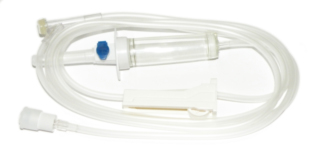 STERILE INFUSION SET PVC DEHP-FREE BPA-FREE 3X4,1 1 WAY SITE Y MOBILE LUER LOCK VENT FILTER 180 CM