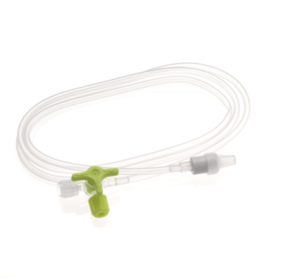MALE FEMALE EXTENSION 3 WAYSS STOPCOCK PVC DEHP-FREE BPA-FREE 3X4,1MM MOBILE LUER LOCK